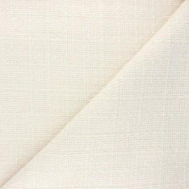 Tweed fabric - ivory Ambrine x 10cm