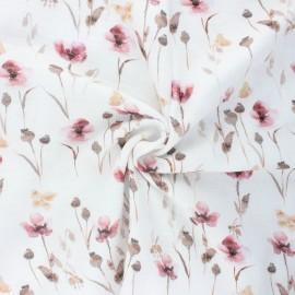 Double cotton gauze fabric - white Naturalia x 10cm