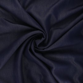 Polyviscose fabric - night blue Ysée x 10 cm