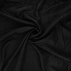 Polyviscose fabric - black Ysée x 10 cm