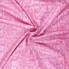 Glittery lycra fabric - pink Snaky x 10cm