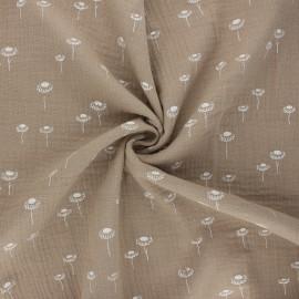 Double gauze fabric - sand Sunny daisy x 10cm