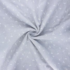 Double gauze fabric - light grey Little dandelion x 10cm