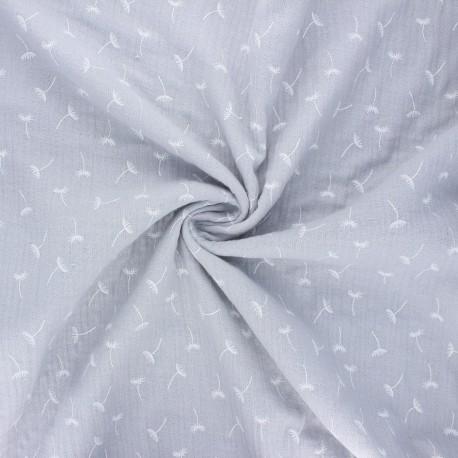 Double gauze fabric - light grey Little dandelion x 10cm
