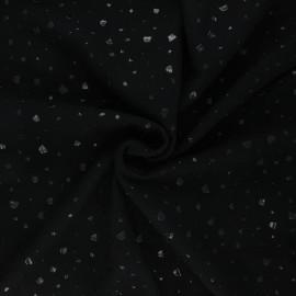 Tissu double gaze de coton Terrazzo - noir x 10cm