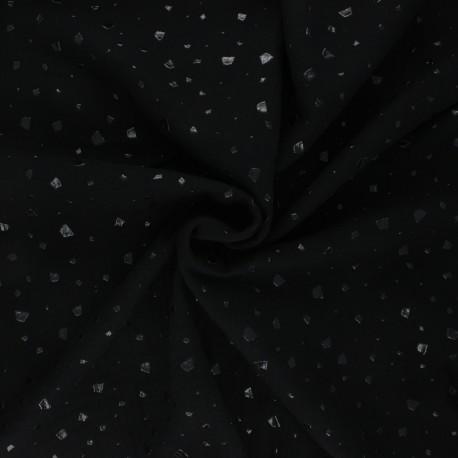 Double gauze fabric - black Terrazzo x 10cm