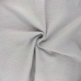 Tissu double gaze de coton Mini rainbow dot - gris clair x 10cm