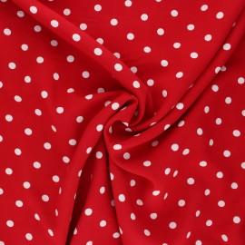 Viscose fabric - red Estel x 10cm