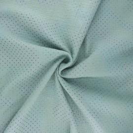 Tissu double gaze de coton Mini rainbow dot - vert sauge x 10cm