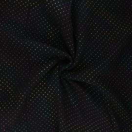 Tissu double gaze de coton Mini rainbow dot - noir x 10cm