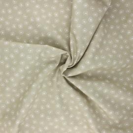 Poplin cotton fabric - sand Tarassaco x 10cm