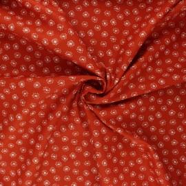 Poplin cotton fabric - rust Tarassaco x 10cm