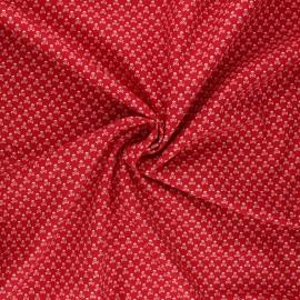 Poplin cotton fabric - red Skeleton x 10cm
