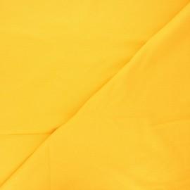 Plain stitched cotton fabric - mango yellow x 10cm