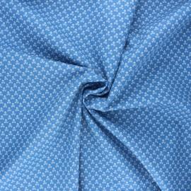 Poplin cotton fabric - swell blue Skeleton x 10cm