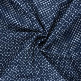 Poplin cotton fabric - night blue Skeleton x 10cm