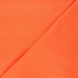 Tissu piqué de coton uni - capucine x 10cm