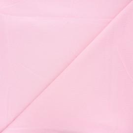Tissu piqué de coton uni - baby rose x 10cm