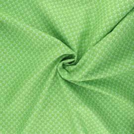 Poplin cotton fabric - green Skeleton x 10cm