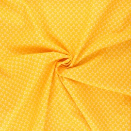 Poplin cotton fabric - mimosa yellow Skeleton x 10cm