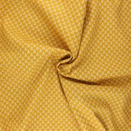 Poplin cotton fabric - mustard yellow Skeleton x 10cm