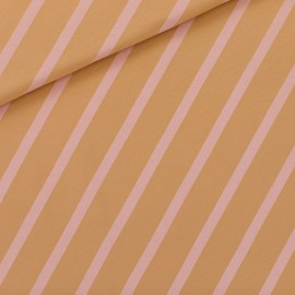 Tissu See you at six sweat léger Diagonals XL - Fenugreek brown x 10cm