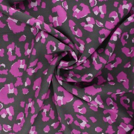 Tissu viscose Camo panther - taupe x 10cm