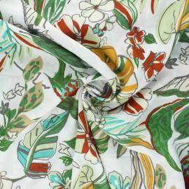 Tissu viscose Papagaio - blanc x 10cm