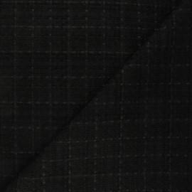 Tweed fabric - black Ambrine x 10cm
