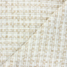 Lurex tweed fabric - raw Soline x 10cm