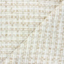 Tissu tweed lurex Soline - écru x 10cm