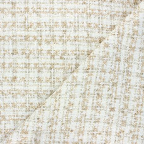 Lurex tweed fabric - raw Soline x 10cm