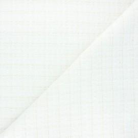 Tissu tweed lurex Liselle - écru x 10cm