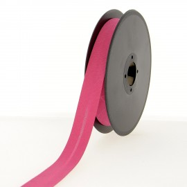 40 mm Poly Cotton Bias Binding Roll - Bright Pink