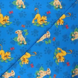Tissu jersey Simba et Nala - bleu x 10cm