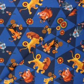 Tissu jersey Le monde du Roi Lion - bleu marine x 10cm