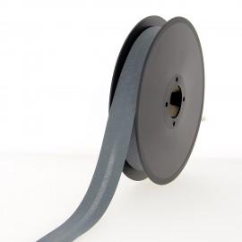 40 mm Poly Cotton Bias Binding Roll - Thunderstorm Grey