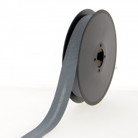 Biais polycoton 40 mm - gris orage - Bobine de 25 m