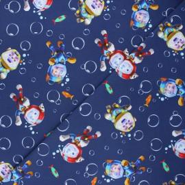Tissu jersey Pat' Patrouille submarine - bleu nuit x 10cm