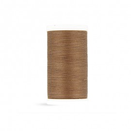 Cotton Laser sewing thread - glossy brown - 100m