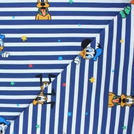 Jersey fabric - blue Vive Mickey ! x 10cm
