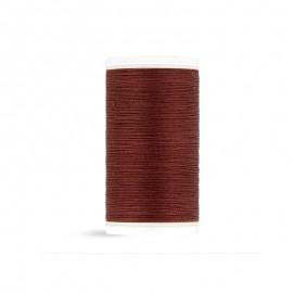 Cotton Laser sewing thread - auburn - 100m