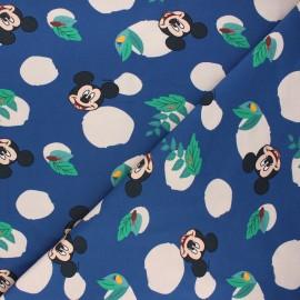Jersey fabric - navy blue Jungle Mickey x 10cm