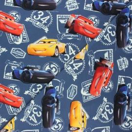 Jersey fabric - dark grey Cars champion x 10cm