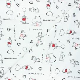 Jersey fabric - off-white Winnie love x 10cm