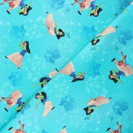 Tissu jersey Fighting Mulan - turquoise x 10cm