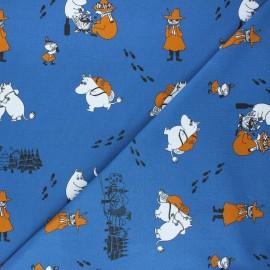 Jersey fabric - navy blue Moomins x 10cm