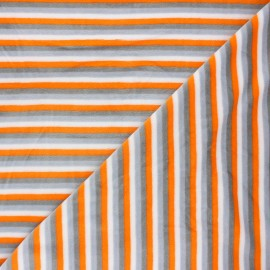 Terry-cloth jersey fabric - orange Sète x 10cm