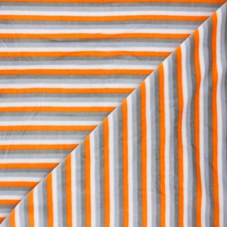 Tissu jersey velours éponge Sète - orange x10cm
