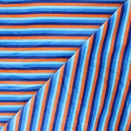 Tissu jersey velours éponge Sète - bleu x10cm